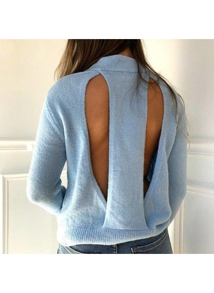 uniq SW07375  open back sweater