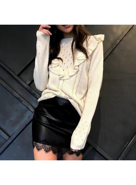 salt sk1703 lace trim skirt