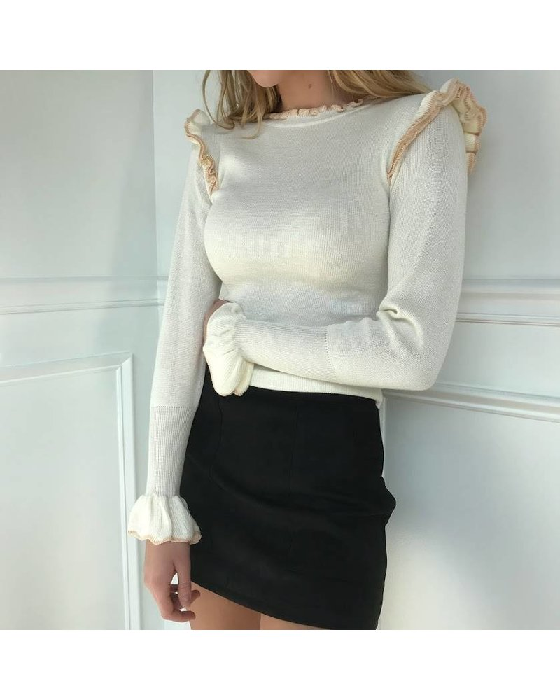 dmw1214 sweater w/ contrast edge