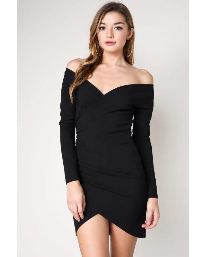BD8739 long sleeve mini dress
