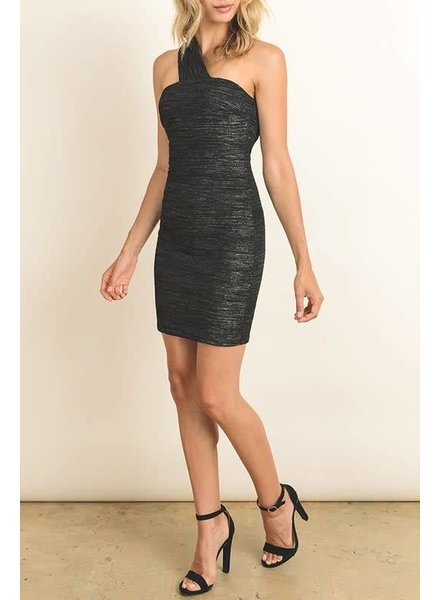 fd2059 bodycon one shoulder dress