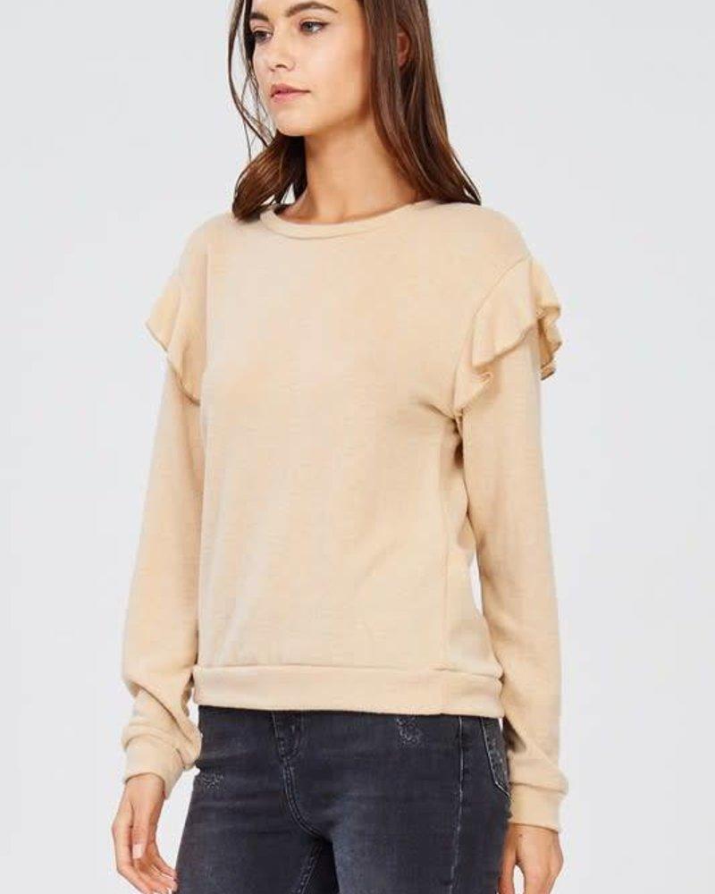 wasabi + mint wmt1731 ruffle sweatshirt