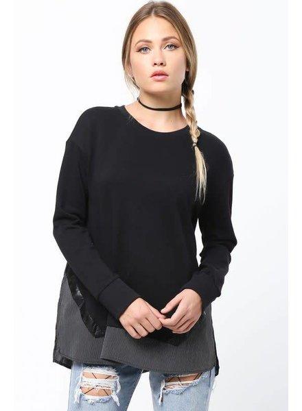 Very J vt13298 pinstripe sweatshirt