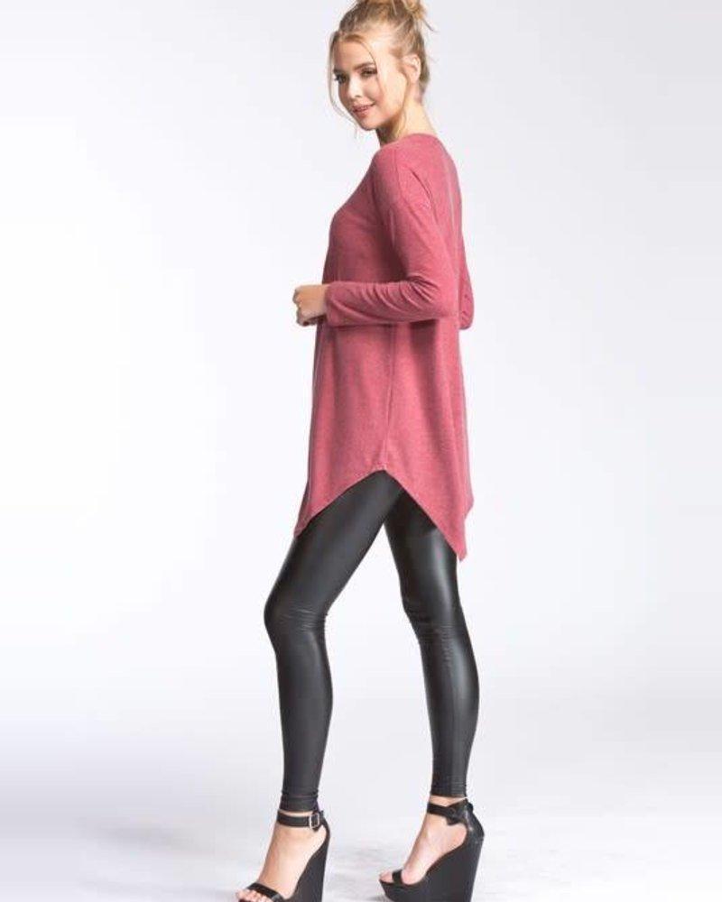 cherish t18870 uneven sweater