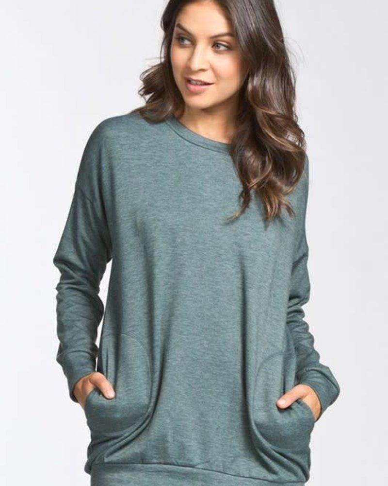 cherish t19272 side pocket sweatshirt