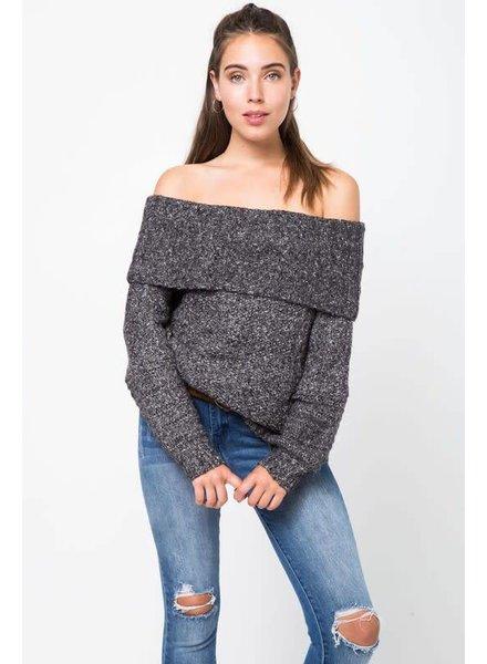 Love Riche 12w1144L off shoulder sweater