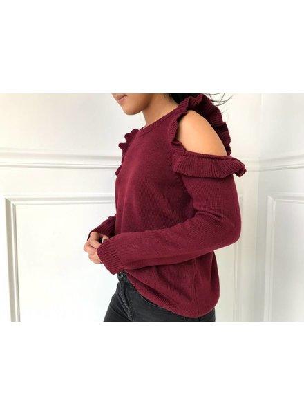 Love Riche 12w1146L cold shoulder sweater