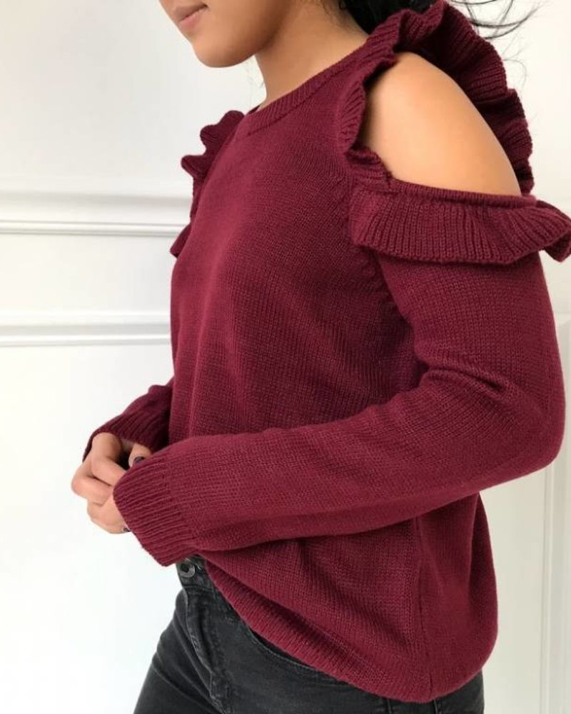 Love Riche 12w1146L cold shoulder sweater