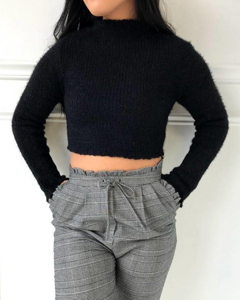 Hot & Delicious hvt312 mock neck sweater top