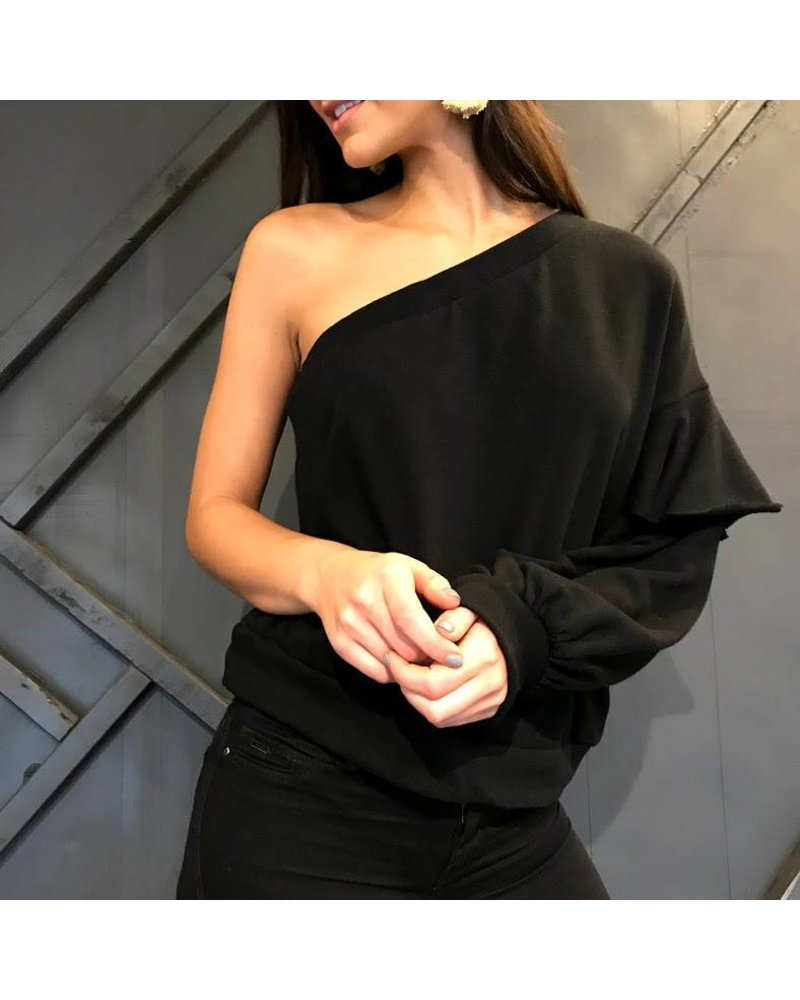 ht7778 one shoulder top