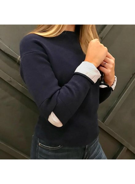 On Twelfth 1220343 cutout elbow sweater