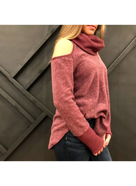 Paper Crane st26050 cowl neck top