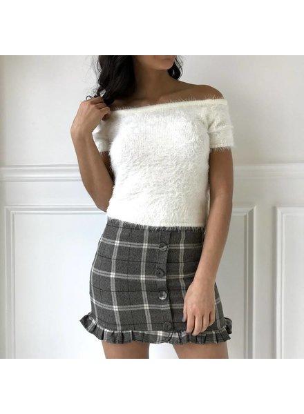 sadie & sage CXS9002 plaid ruffle skirt