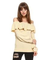 tcec cw2272 off shoulder sweater