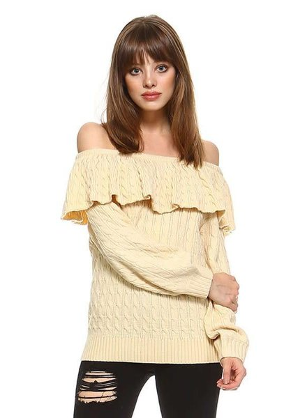cw2272 off shoulder sweater