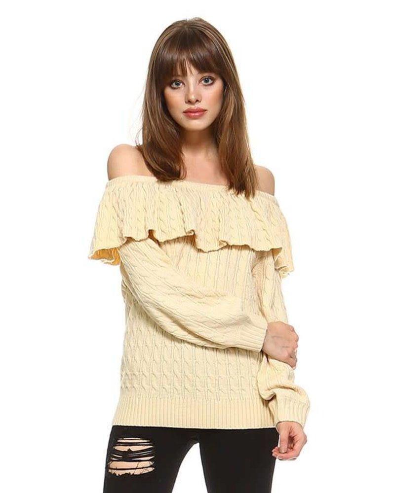 cw2272 off shoulder sweater