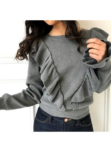 12w1145L ruffle sweater