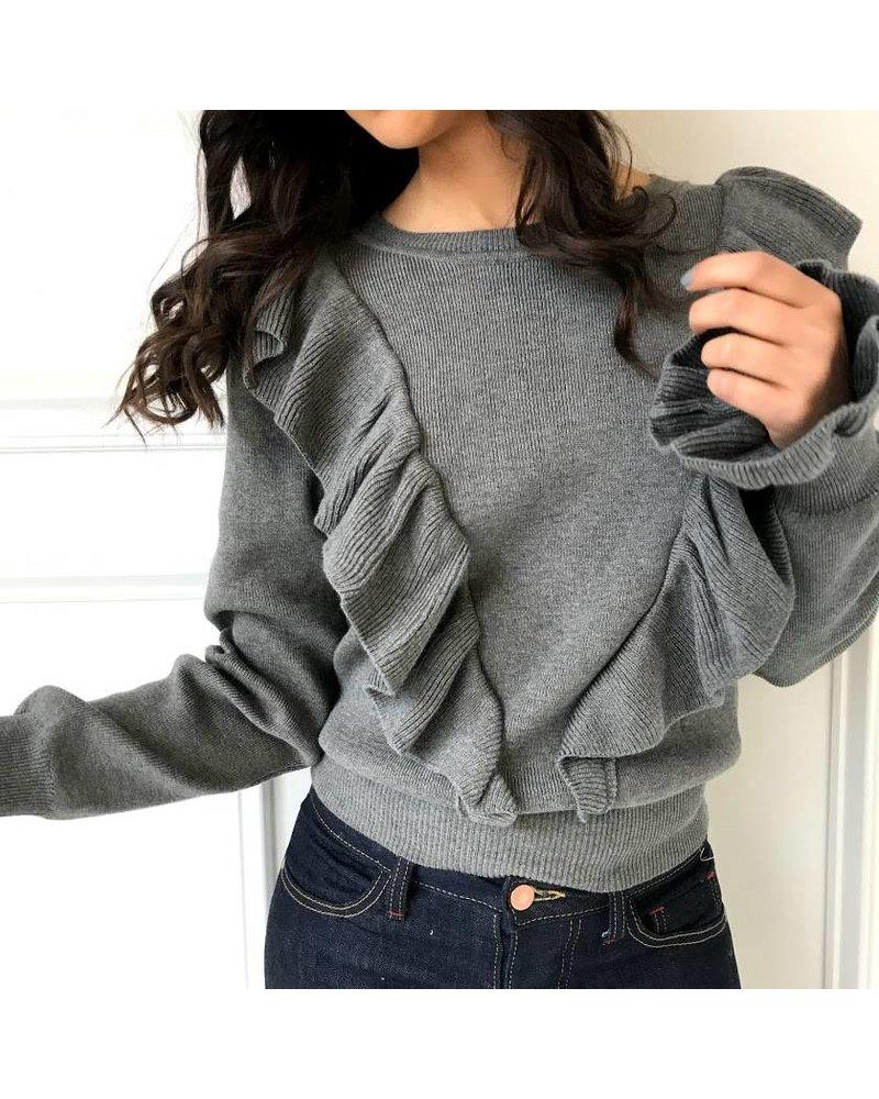 12w1145L ruffle sweater