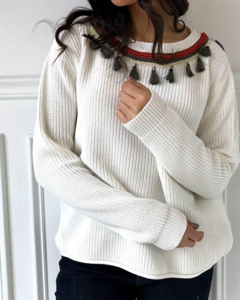 ellison RT-1913-6 tassel sweater