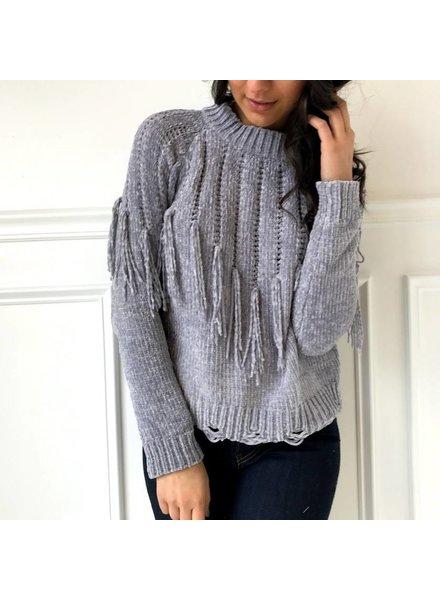 sadie & sage CXT9022 fringe sweater top