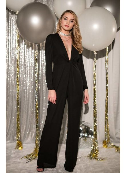 Blue Blush gbr1311-1 long sleeve twisted jumpsuit