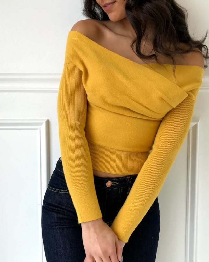 hers & mine sw196 off the shoulder sweater top