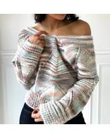 En Creme EW30576BL v neck sweater