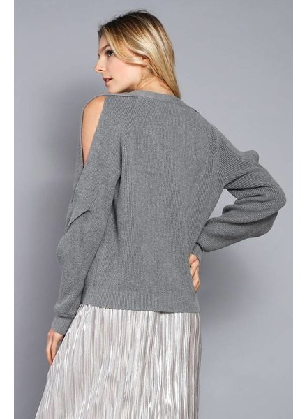 Do & Be y14058 twisted sleeve sweater