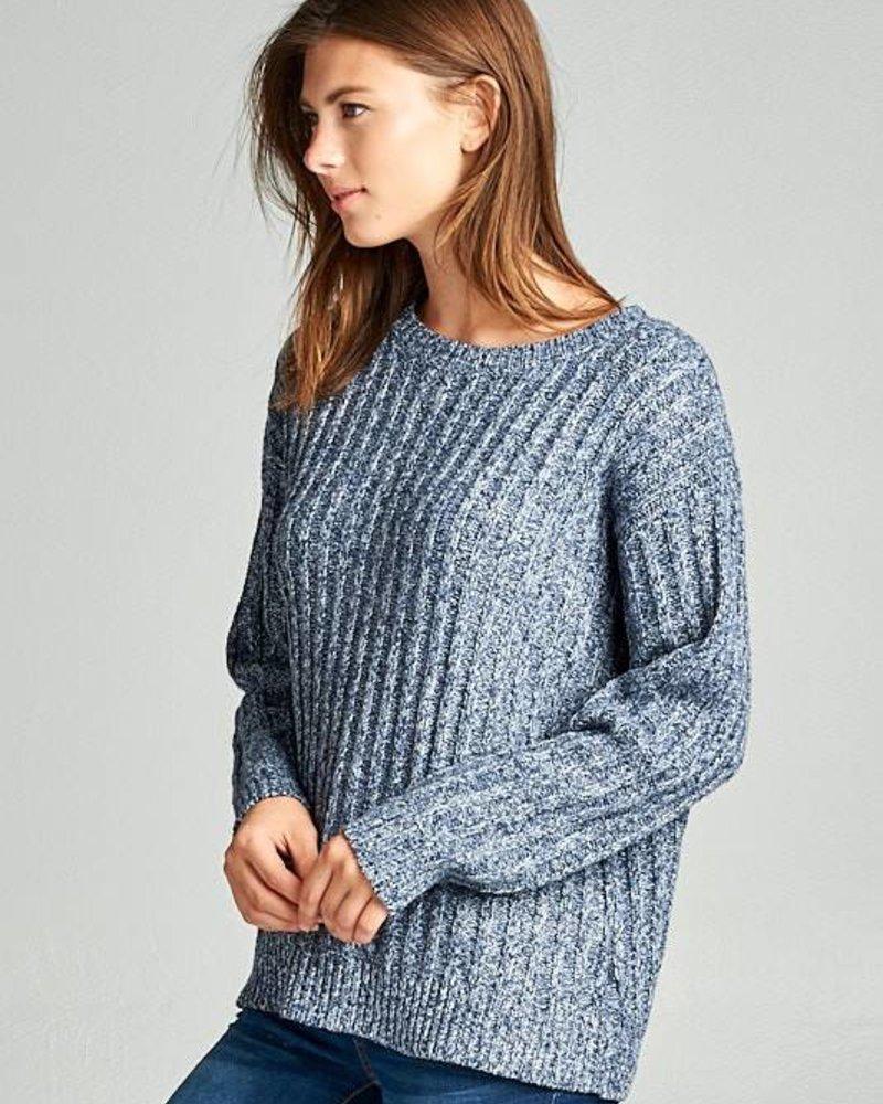 ellison RT-1724-6 super soft ribbed sweater