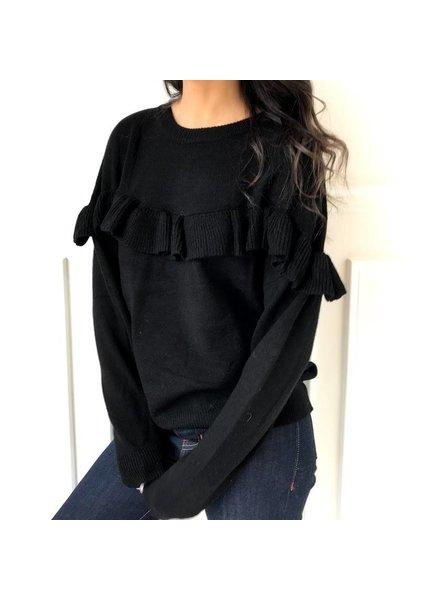 Renamed t9595 ruffle sweatshirt