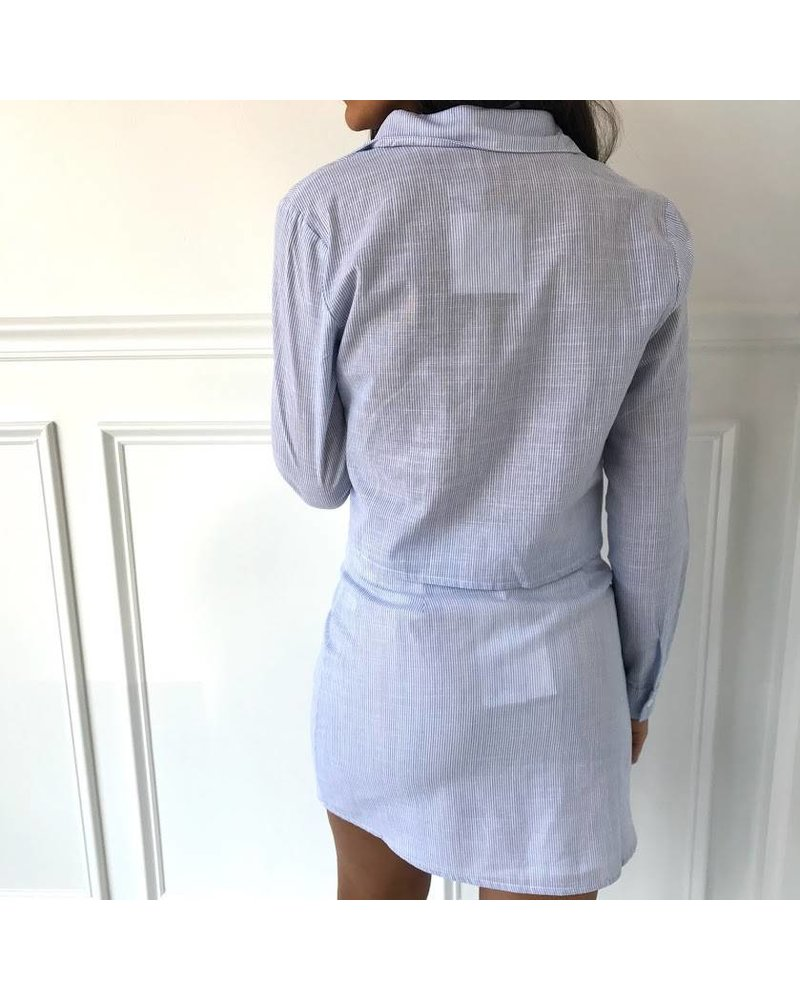 Honey Punch 7it2872h cropped button down