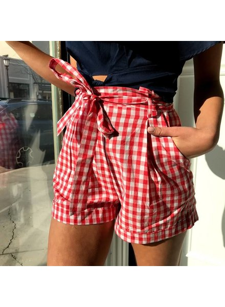 Do & Be Y15175 gingham print shorts