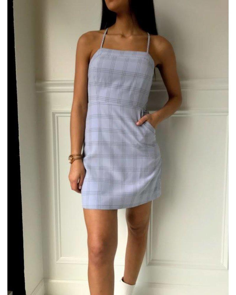 essue Ld32180 lace up mini dress