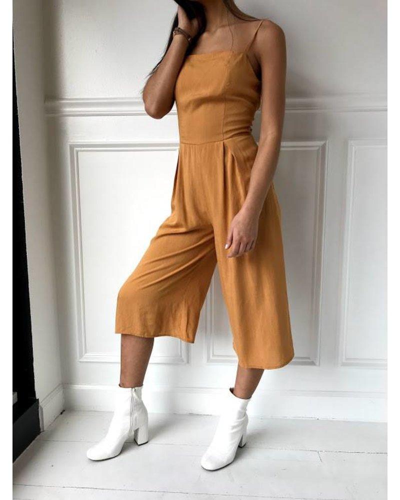 Sage J4022 tie back culotte jumpsuit