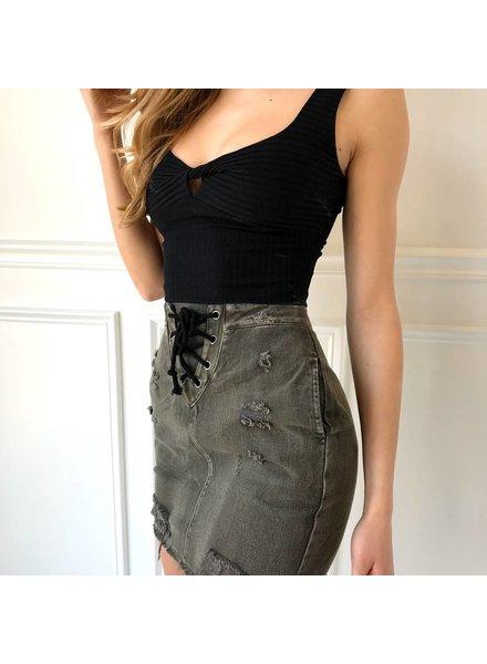 h5519 high waisted denim skirt