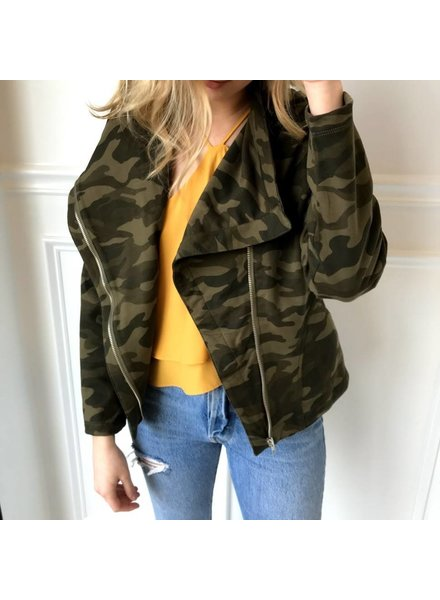 Lt1275 open face army sweatshirt jacket