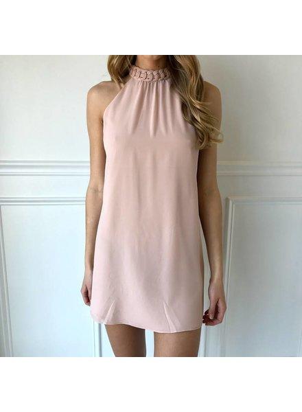 Sd110417 mock neck sleeveless dress