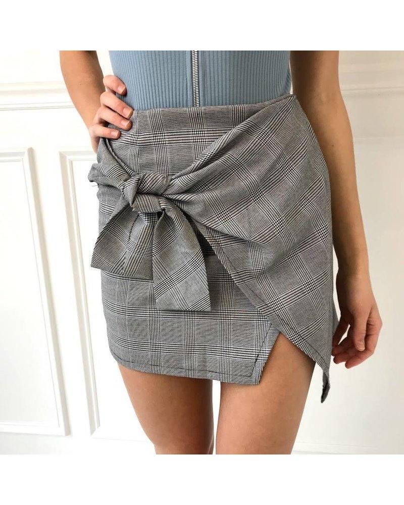 Ns40429 plaid skirt