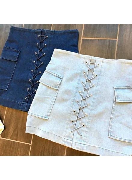 jk2250 stretch mini skirt