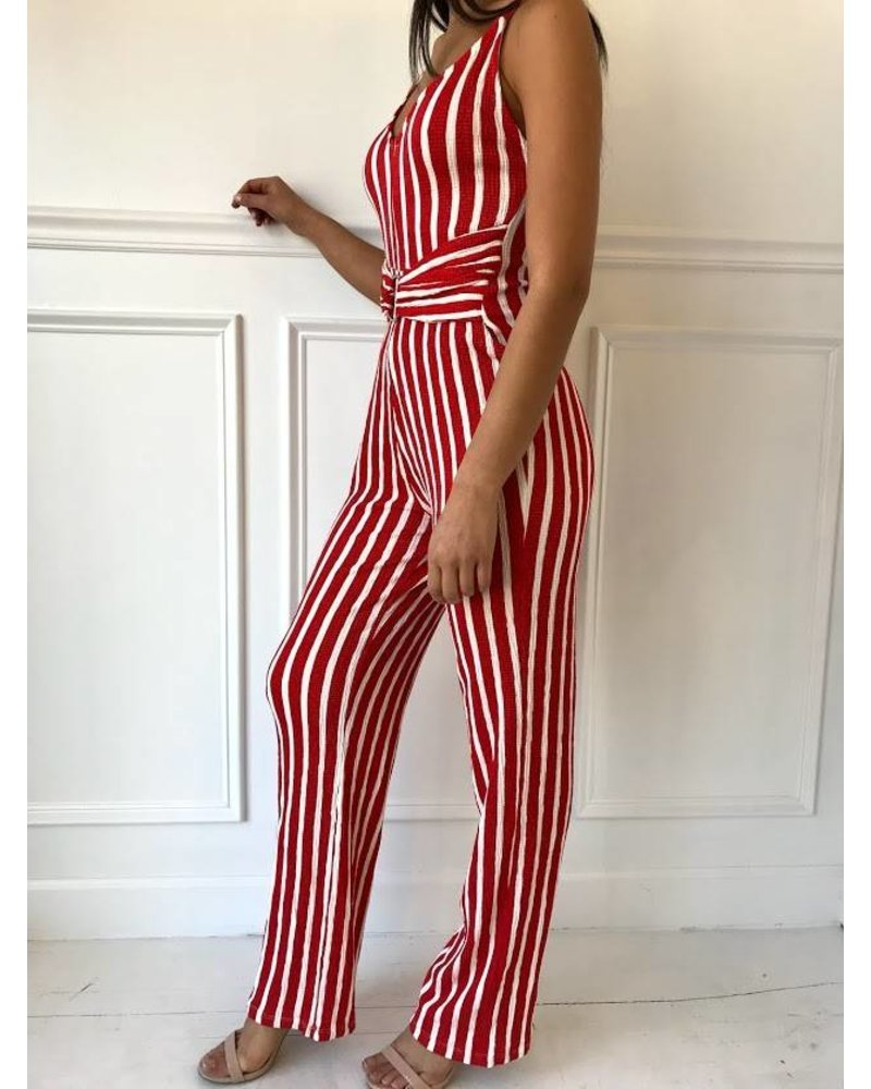 3230ry vertical stripe jumpsuit
