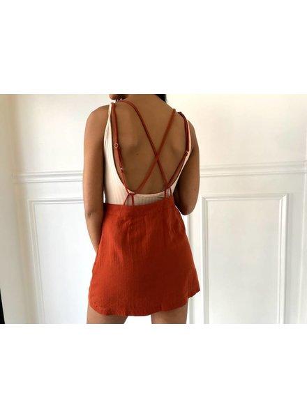 Very J vs50642 backless overall dress