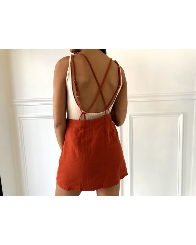 Very J vs50642 backless overall dress