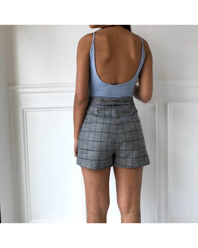 dmp1595 tie waist shorts