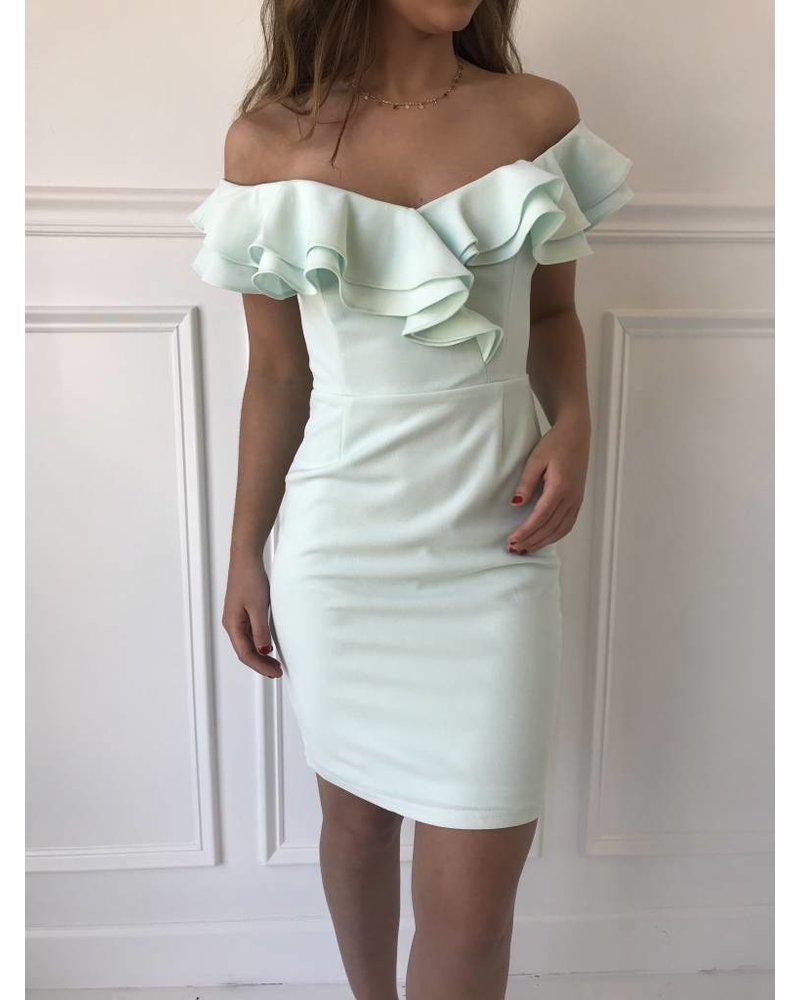 ibd8692 off shoulder bodycon dress