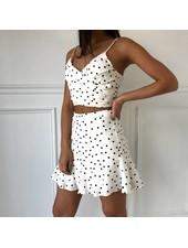 Lush t13499-i ditsy floral mini skirt