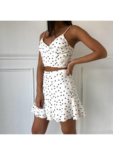 t13499-i ditsy floral mini skirt