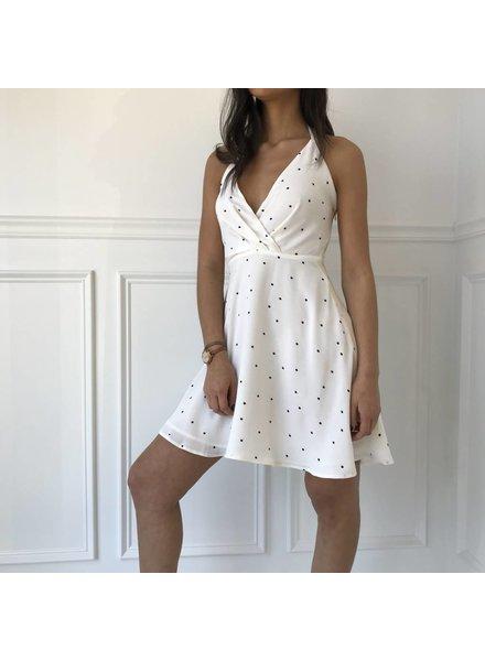 Renamed d1384 dress polka dot halter dress