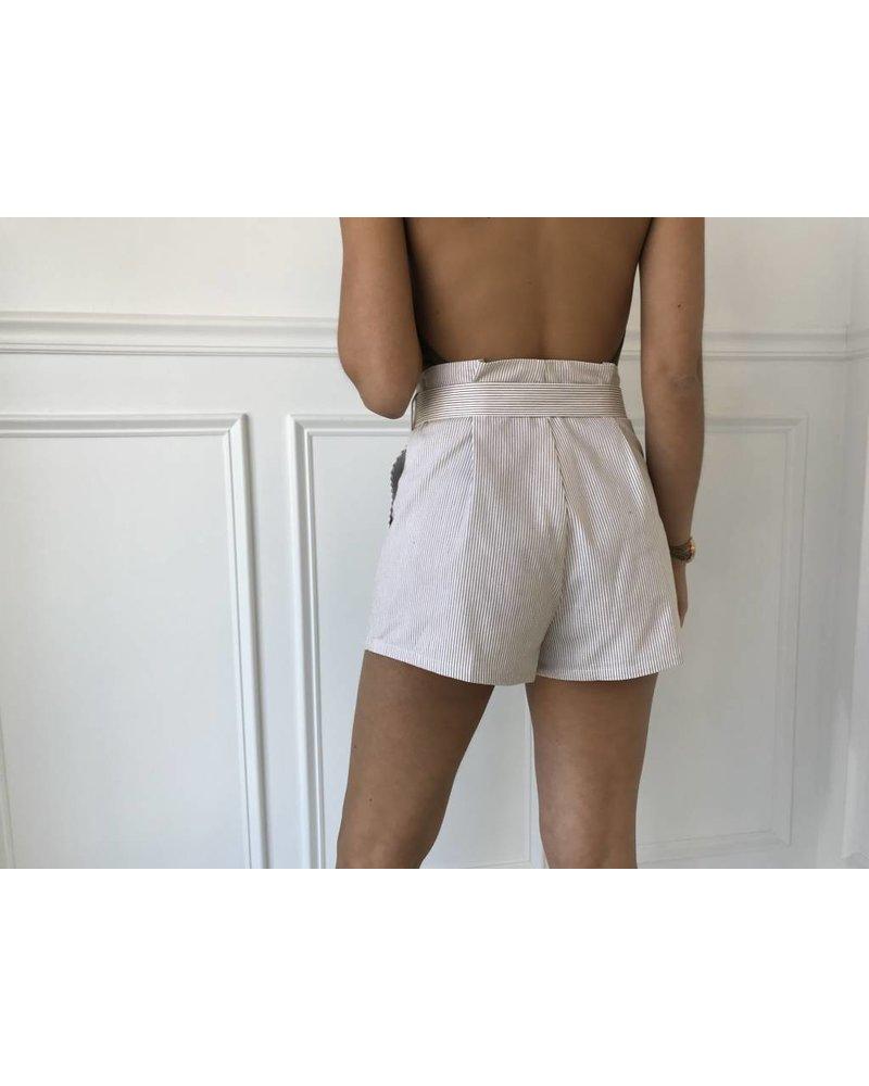 Lp40487 vertical stripe shorts