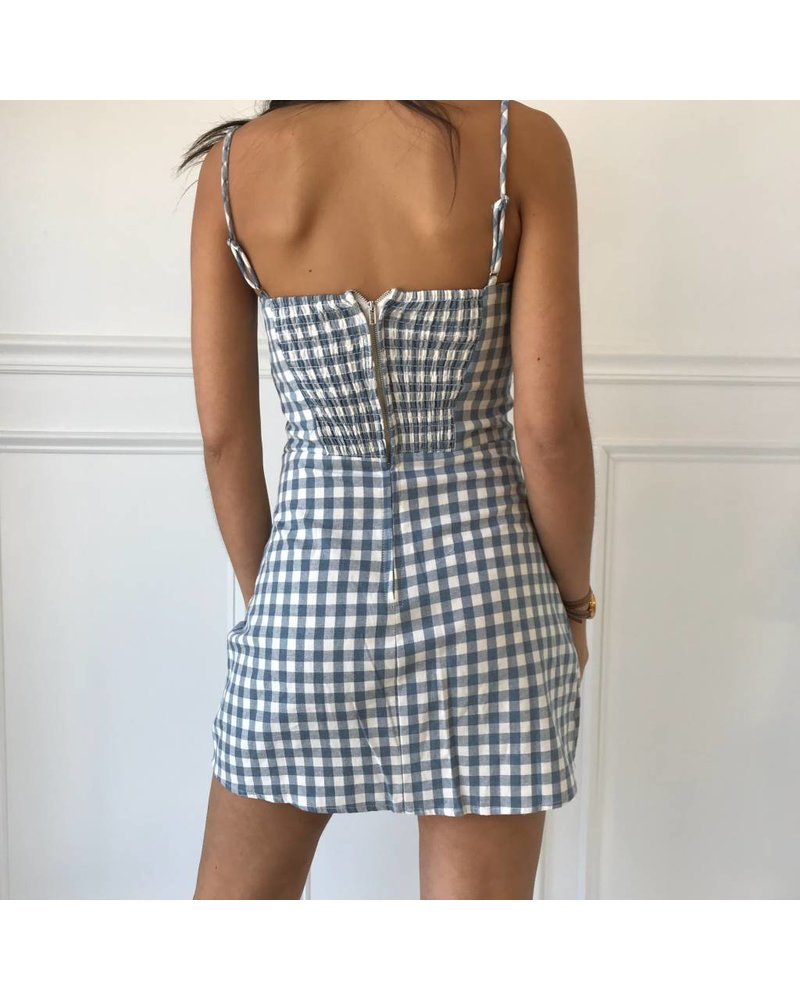 tpd-2106d gingham mini dress