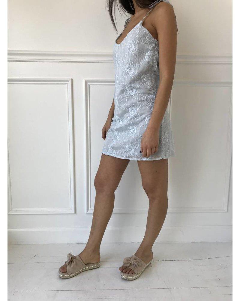 ontwelfth BN50413 eyelet mini dress